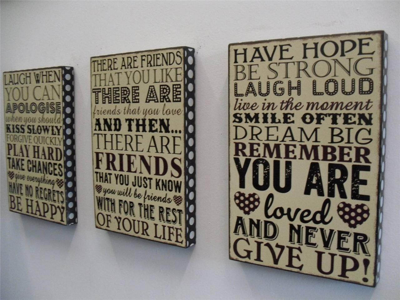 Wall Art Design Ideas: You And Me Word Plaques Wall Art Simple With Box Signs Wall Art (View 20 of 20)