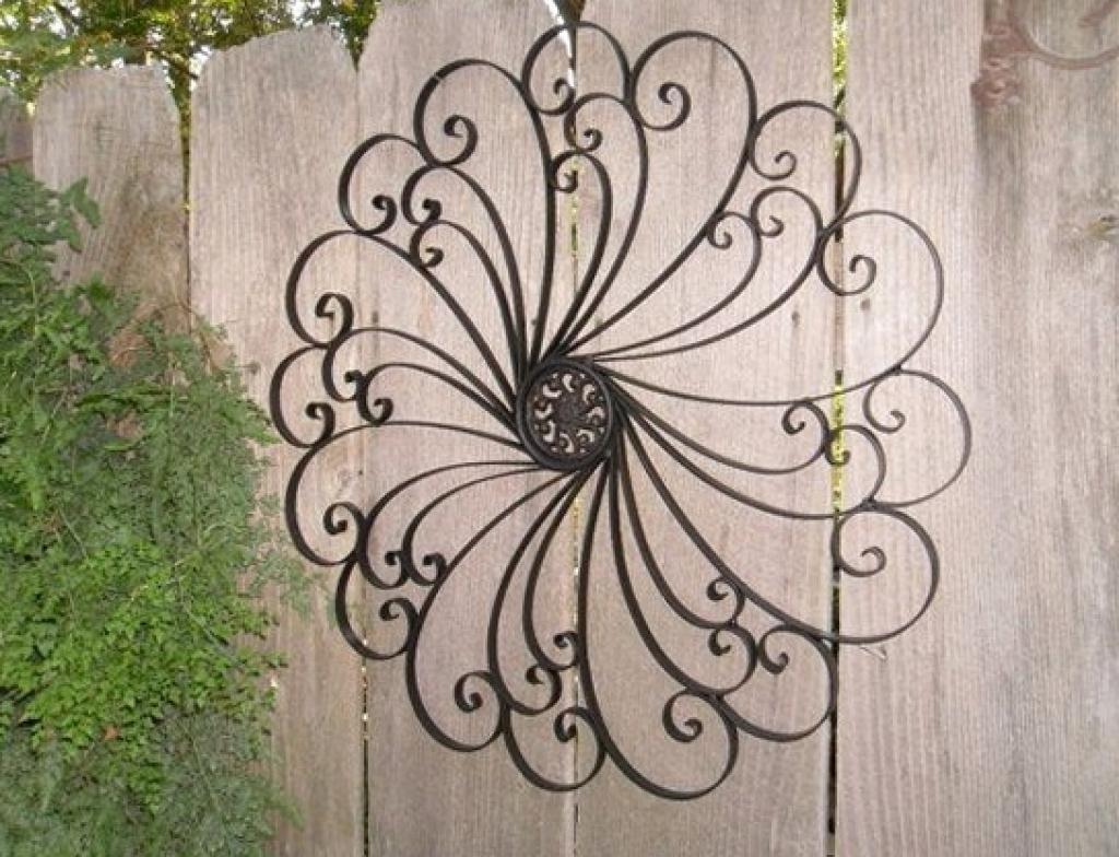 Wall Art Design: Rod Iron Wall Art Black Stained Steel Branch And In Outdoor Wrought Iron Wall Art (View 11 of 20)