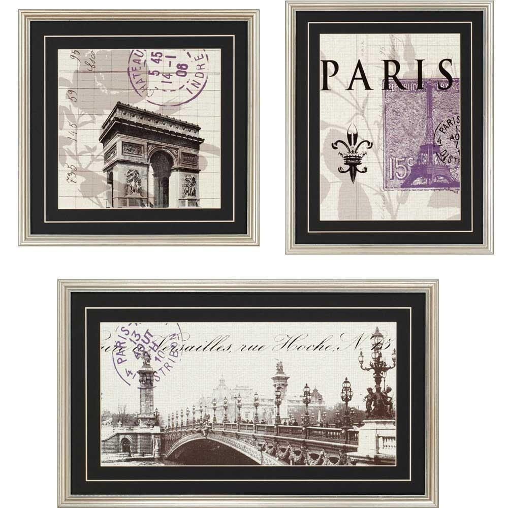Wall Art Designs: Beautiful Paris Wall Art, Paris Bedding For Intended For Parisian Wall Art (View 9 of 20)