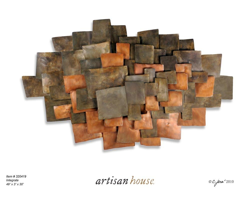 Wall Art Designs: Copper Wall Art Electric Fields In Copper Metal For Copper Wall Art Home Decor (View 20 of 20)