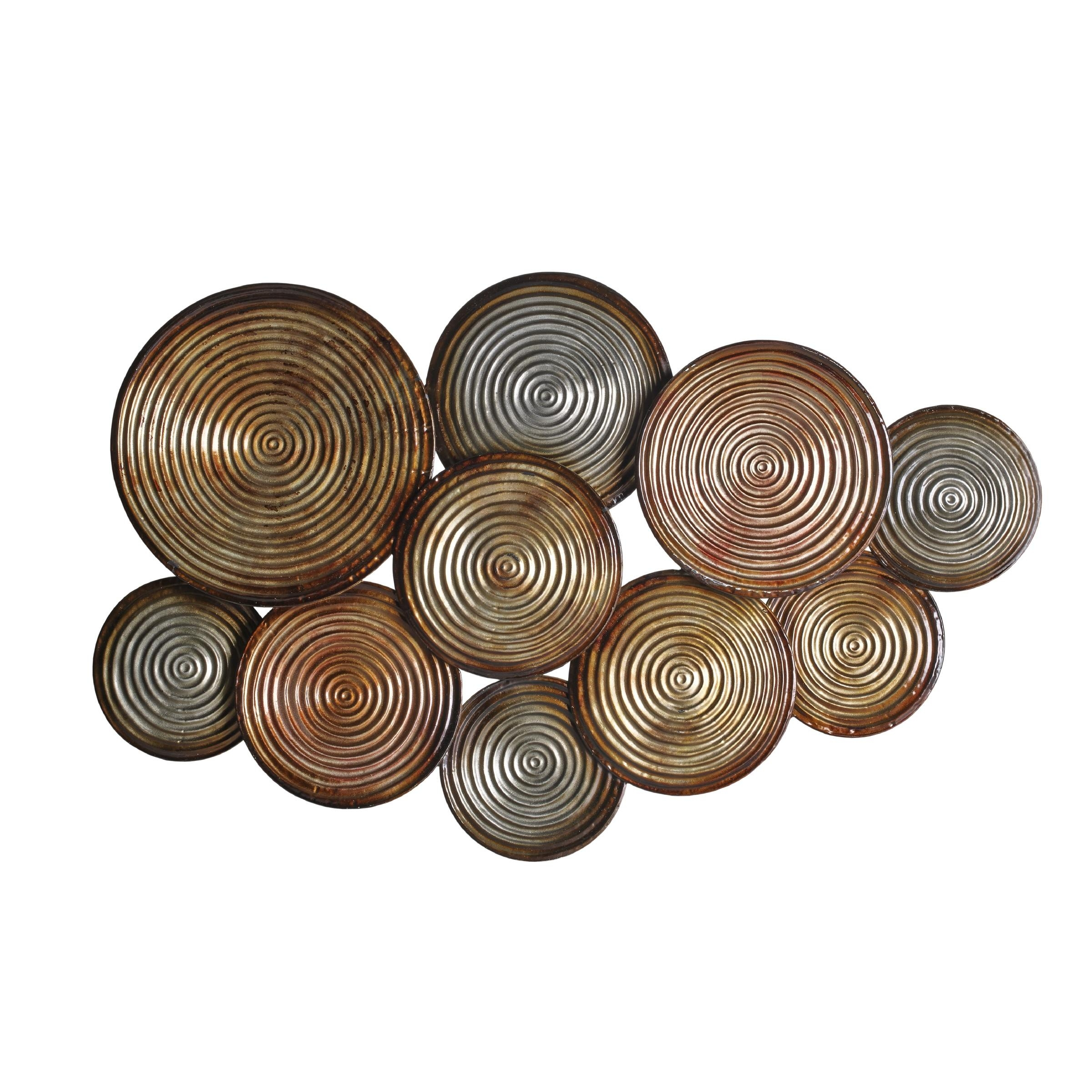 Wall Art Designs: Dimensional Wall Art Ribbed Draws Rolling Regarding Decorative Plates For Wall Art (Image 16 of 20)