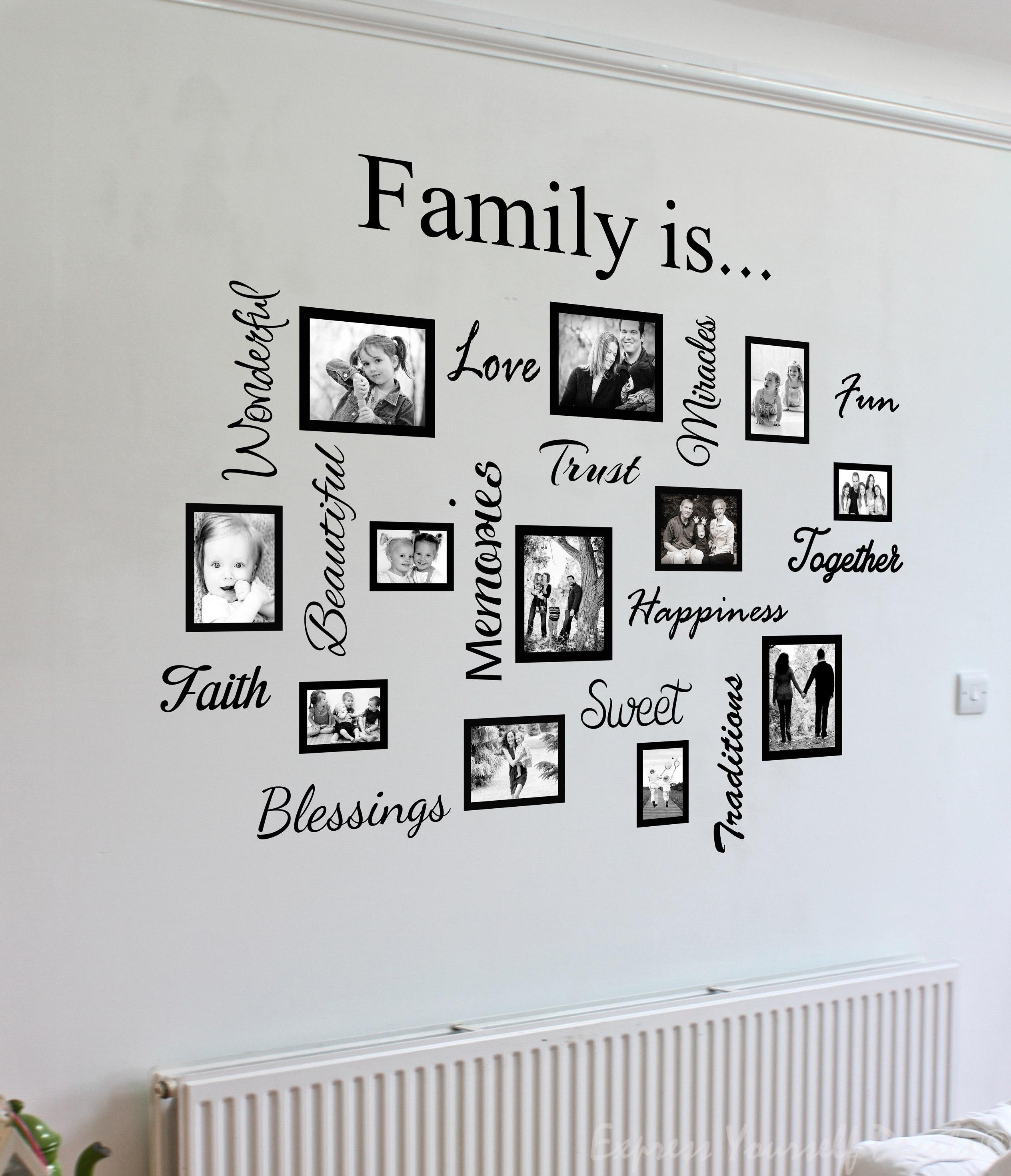 Wall Art Designs: Family Wall Art Artwork Mural Paintings Family Within Family Wall Art Picture Frames (View 1 of 20)