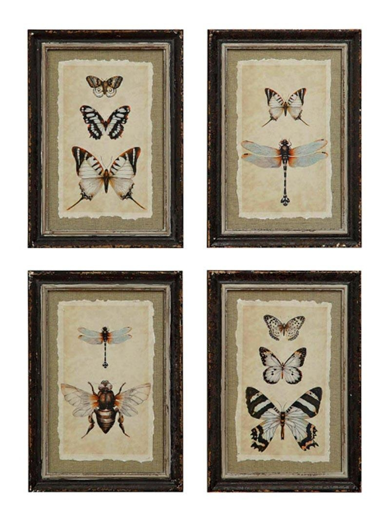 Wall Art Designs: Framed Wall Art Butterfly And Dragonfly Framed Within Inexpensive Framed Wall Art (View 15 of 20)