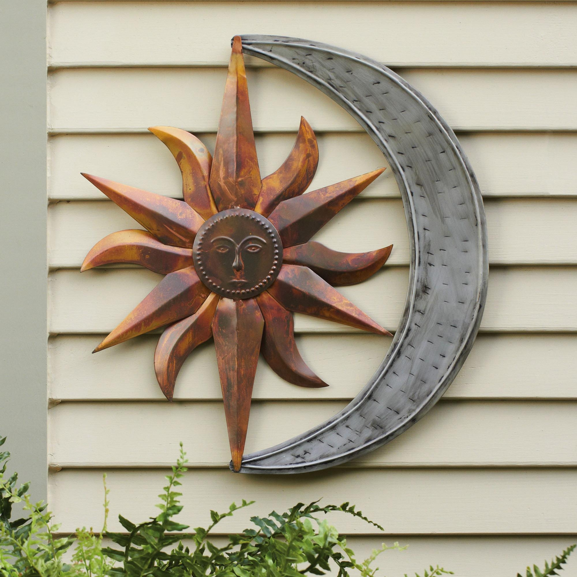 Wall Art Designs: Outdoor Metal Wall Art Star Metal Wall Art Moon For Decorative Outdoor Metal Wall Art (View 2 of 20)