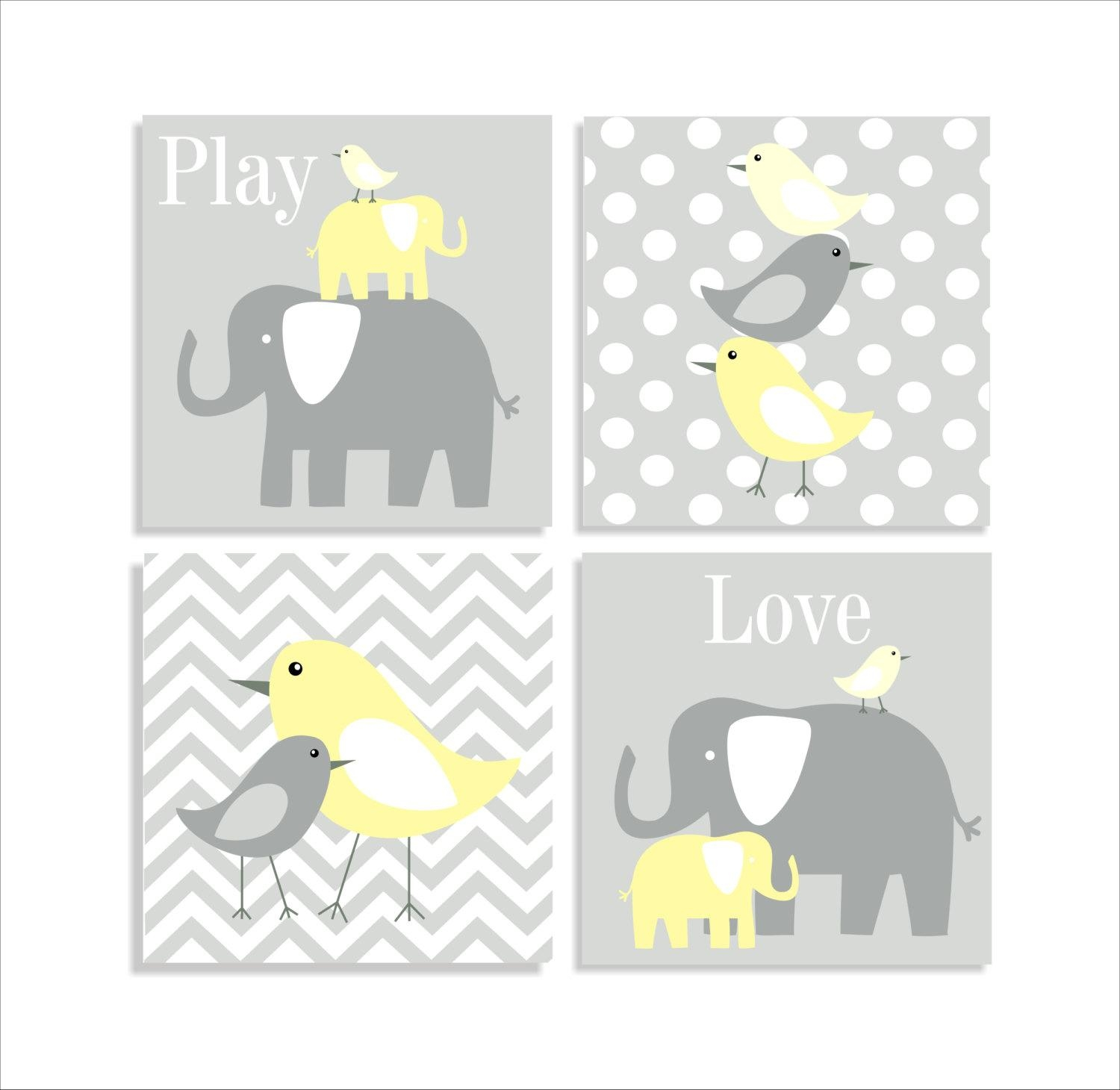 Wall Art Designs: Remarkable Nursery Canvas Wall Art Place To Within Elephant Wall Art For Nursery (View 20 of 20)