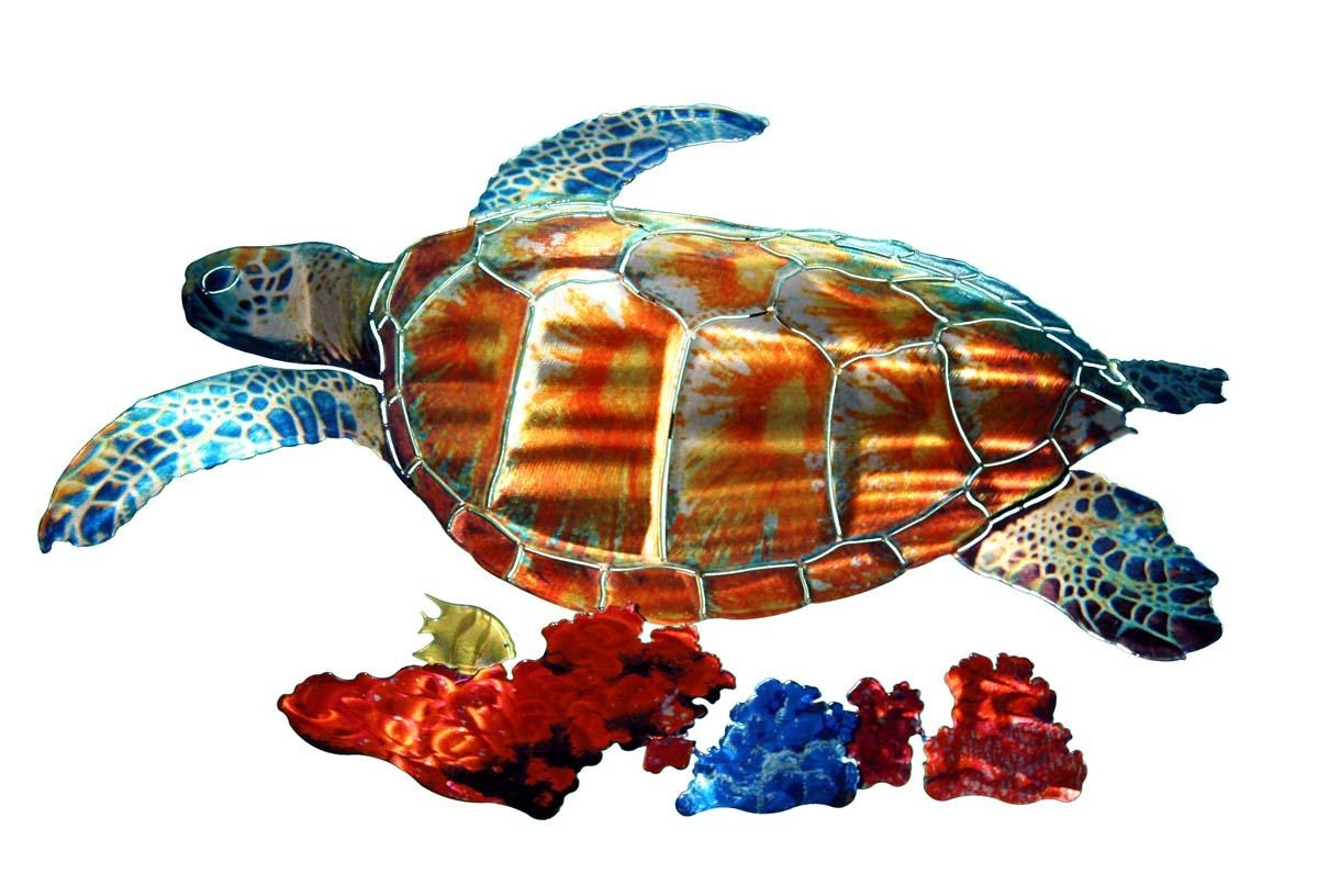 Wall Art Designs: Sea Turtle Wall Art Tropical Sea Turtle Metal Intended For Outdoor Metal Turtle Wall Art (Image 11 of 20)