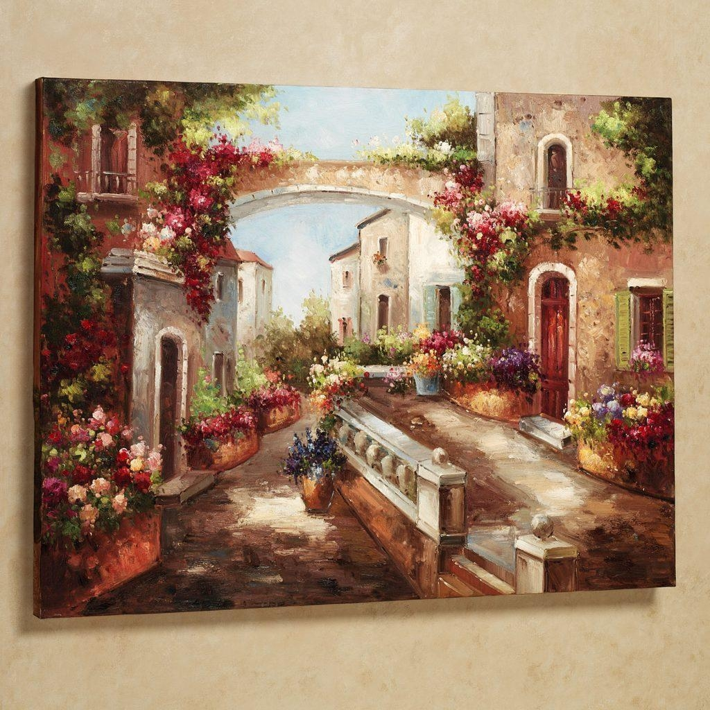 Wall Art Designs: Tuscan Wall Art Early Spring Tuscan Season Theme With Framed Italian Wall Art (View 8 of 20)