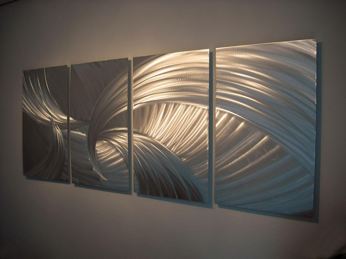 Wall Art Designs: Wall Metal Art Creative Silver Curved Metal Arts For Sheet Metal Wall Art (View 6 of 20)