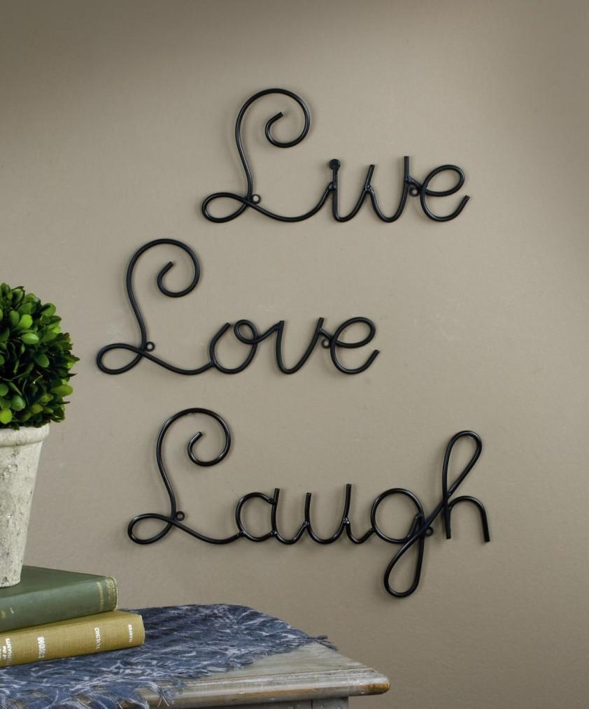 Wall Art Ideas Design : Adorable Ideas Metal Word Wall Art Within Metal Wall Art Quotes (View 3 of 20)
