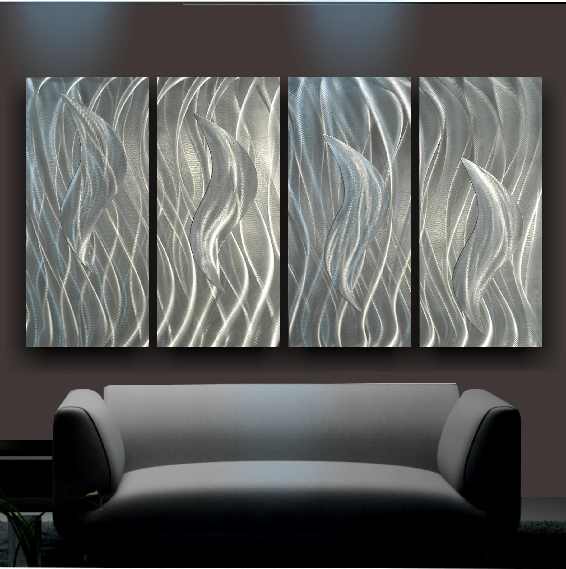 Wall Art Ideas Design : Decorative Silver Metal Art For Walls Intended For Metal Art For Walls (View 2 of 20)