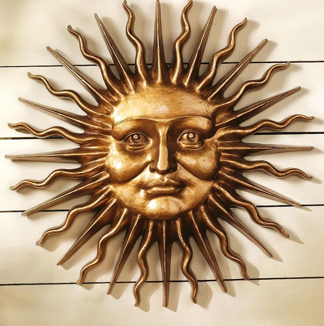 Wall Art Ideas Design : Greek Mythology Metal Sun Wall Art In Large Metal Sun Wall Art (View 8 of 20)