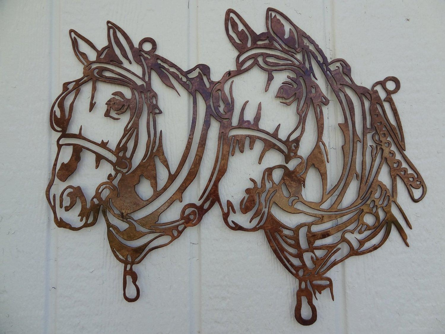 Wall Art Ideas Design : Horse Head Metal Wall Art Designs Home Inside Metal Animal Heads Wall Art (View 1 of 20)