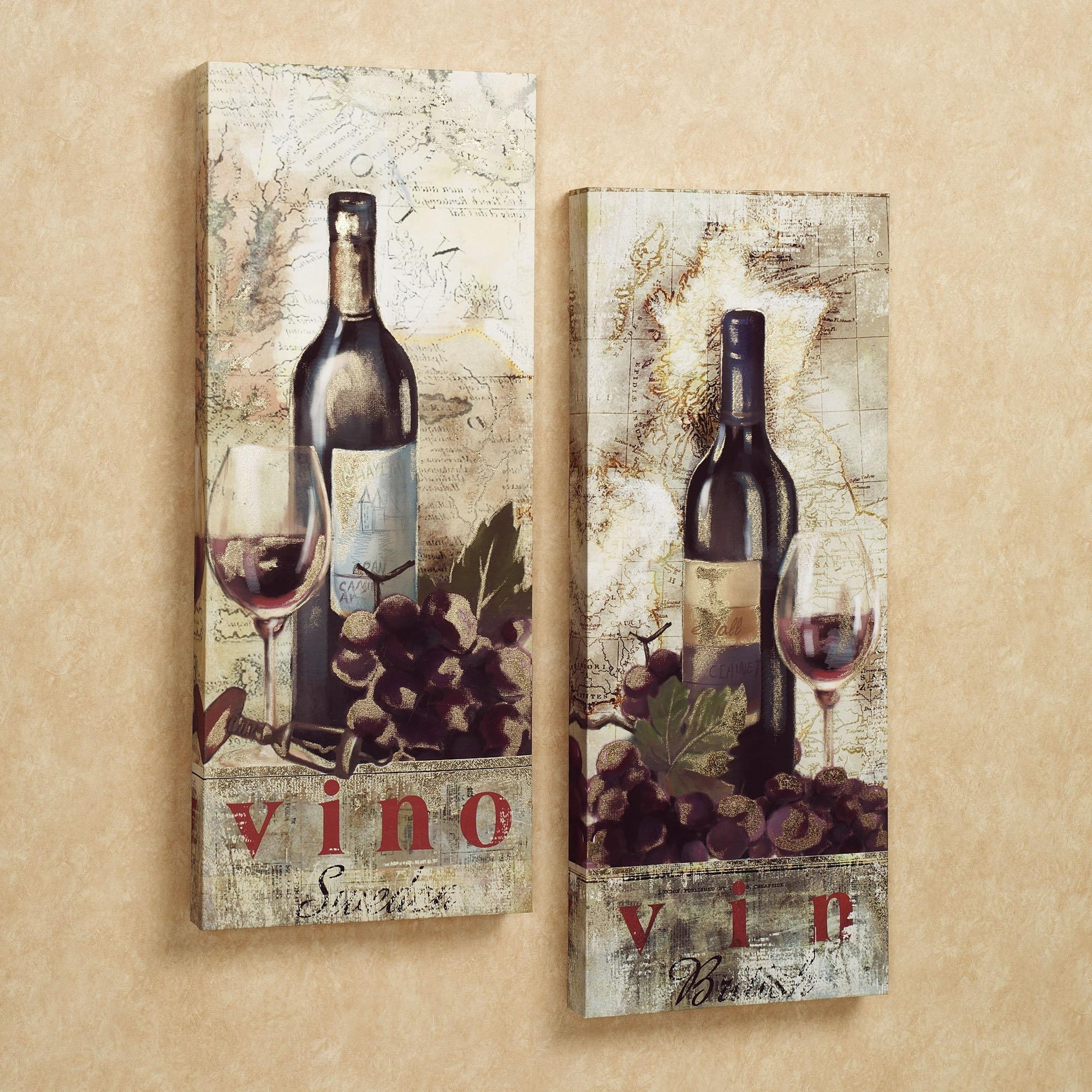 Wall Art Ideas Design : Kitchen Tapestries Wine Canvas Wall Art With Wine And Grape Wall Art (View 4 of 20)