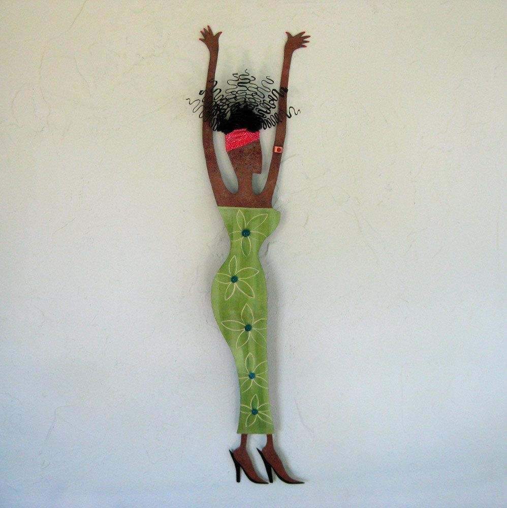 Wall Art Ideas Design : People African Metal Wall Art Simple Green Intended For Caribbean Metal Wall Art (View 9 of 20)