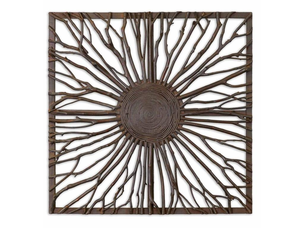 Wall Art Ideas Design : Trees Branches Metal Square Wall Art In Wicker Rattan Wall Art (Image 12 of 20)