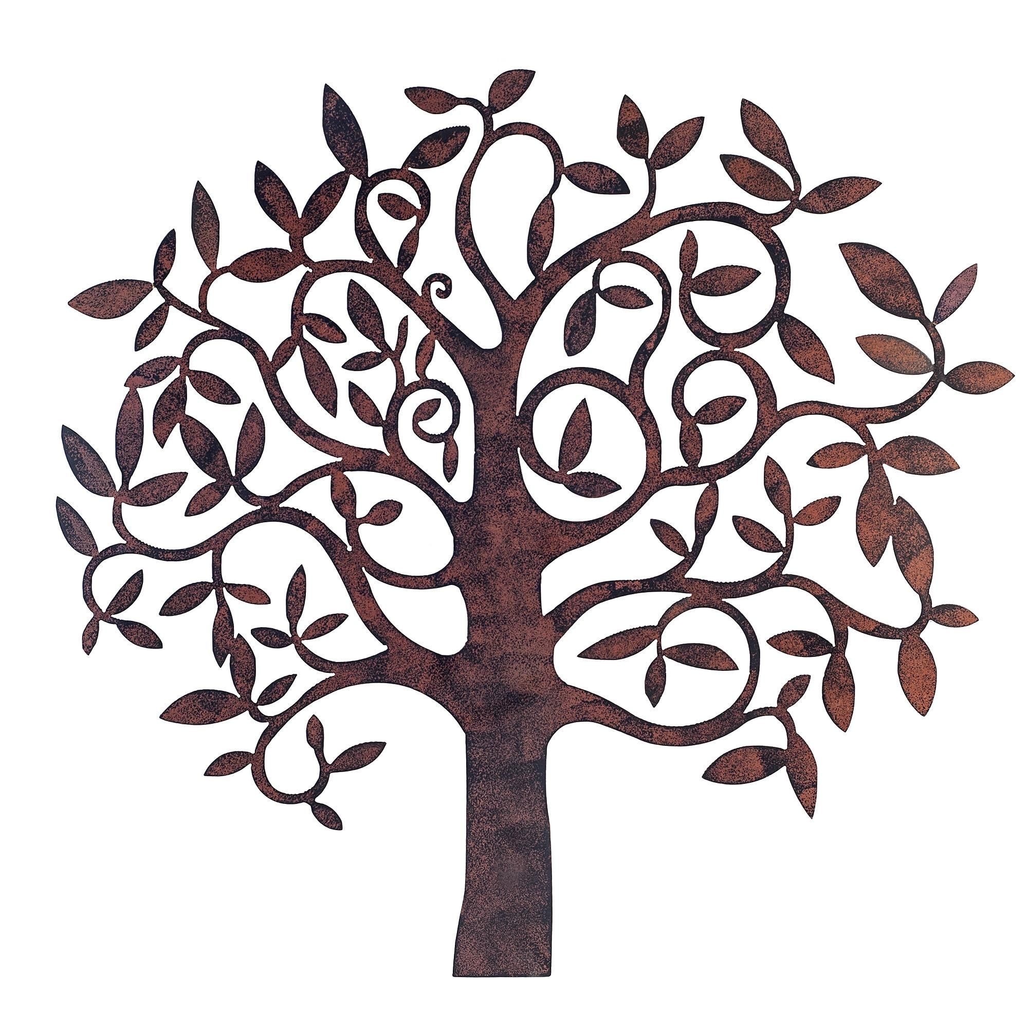 Wall Art Ideas Design : Trees Metal Garden Wall Art White In Metal Wall Art For Outdoors (View 3 of 20)