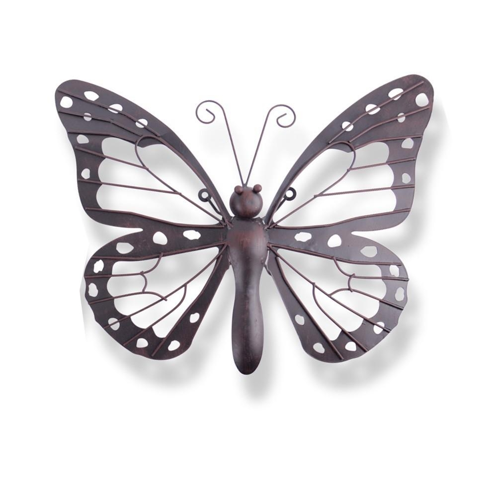 Wall Art Ideas Design : Unique Handmade Metal Butterfly Wall Art In White Metal Butterfly Wall Art (Image 12 of 20)