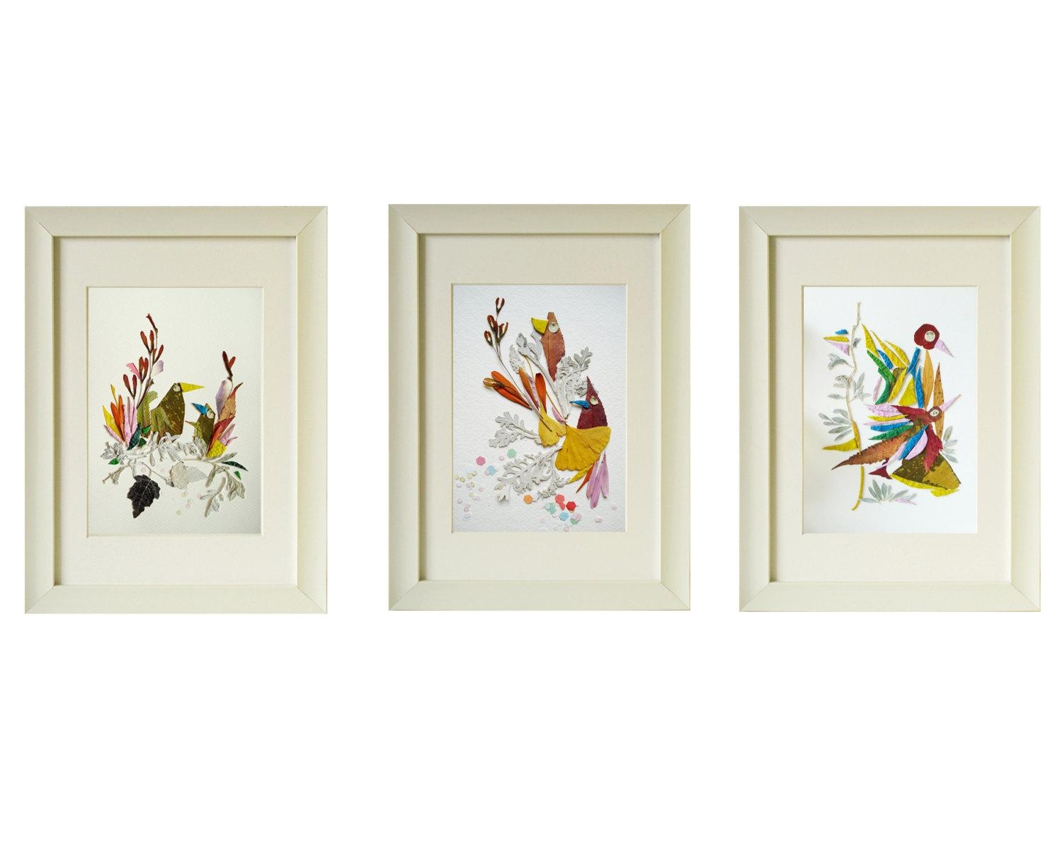 Wall Art Set Of 3 – Wall Shelves Within Wall Art Sets Of  (Image 16 of 20)