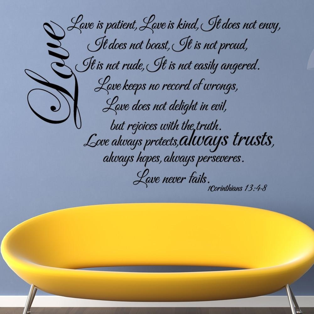 Wall Art Stickers Picture – More Detailed Picture About Love Is Inside Love Is Patient Love Is Kind Wall Art (Image 19 of 20)
