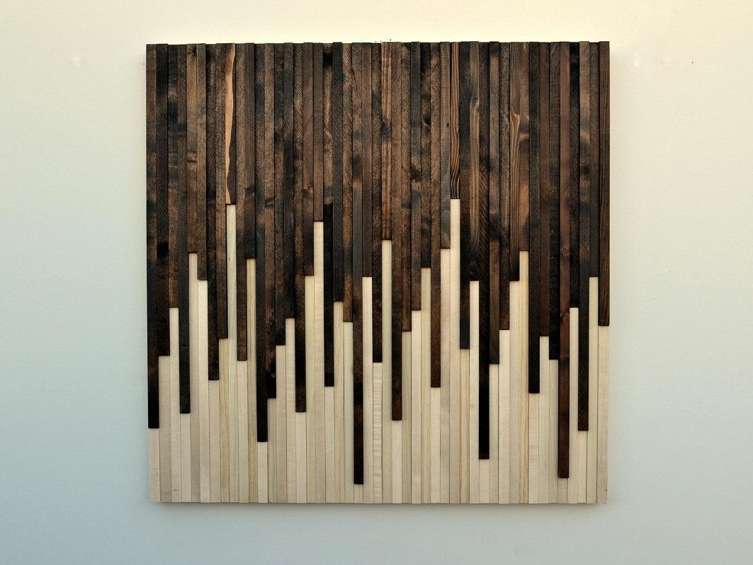 Wall Art Wood Wall Art Rustic Wood Sculpture Wall Within Stained Wood Wall Art (View 6 of 20)