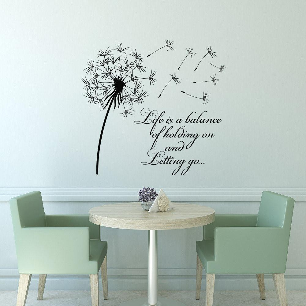 Wall: Beautiful Dandelion Wall Decal To Bring Your Room Feel Fresh With Gold Wall Art Stickers (View 10 of 20)