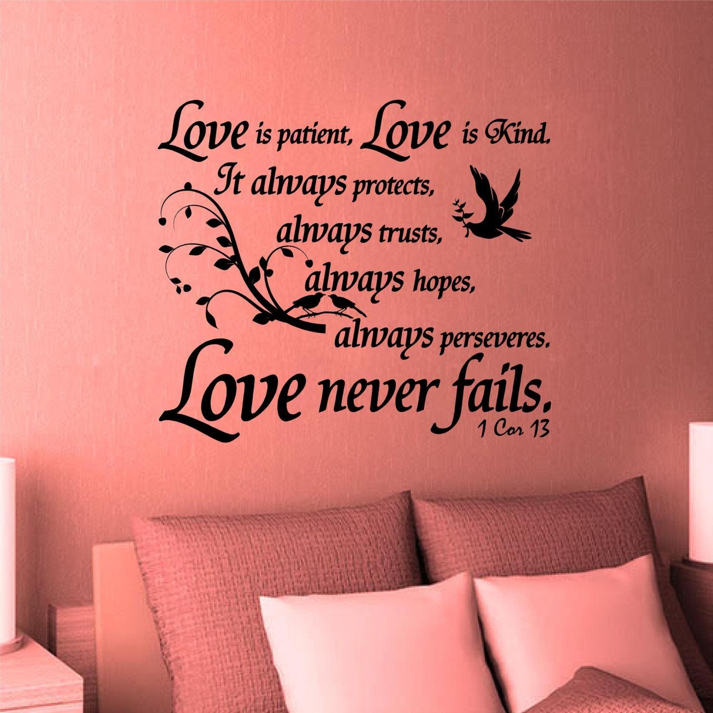 Wall Decal. Bible Scripture. 1 Corinthians (View 10 of 20)