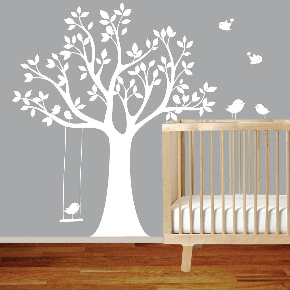 Wall Decal: Great Ideas For Baby Room Decals For Walls Nursery Regarding Oak Tree Vinyl Wall Art (View 5 of 20)