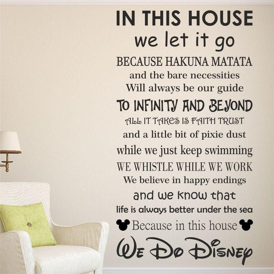 Wall Decal: Inspirational Disney Sayings Wall Decals Disney With Regard To Family Sayings Wall Art (Image 14 of 20)