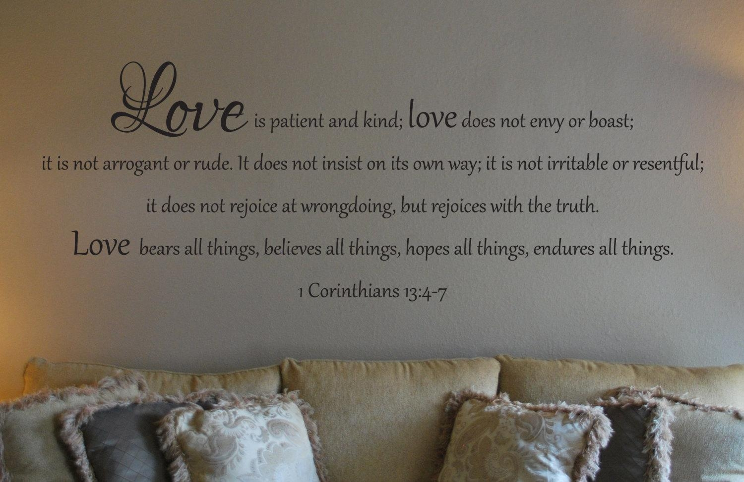 Wall Decal Of 1 Corinthians 13:4 7 Pertaining To 1 Corinthians 13 Wall Art (Image 18 of 20)