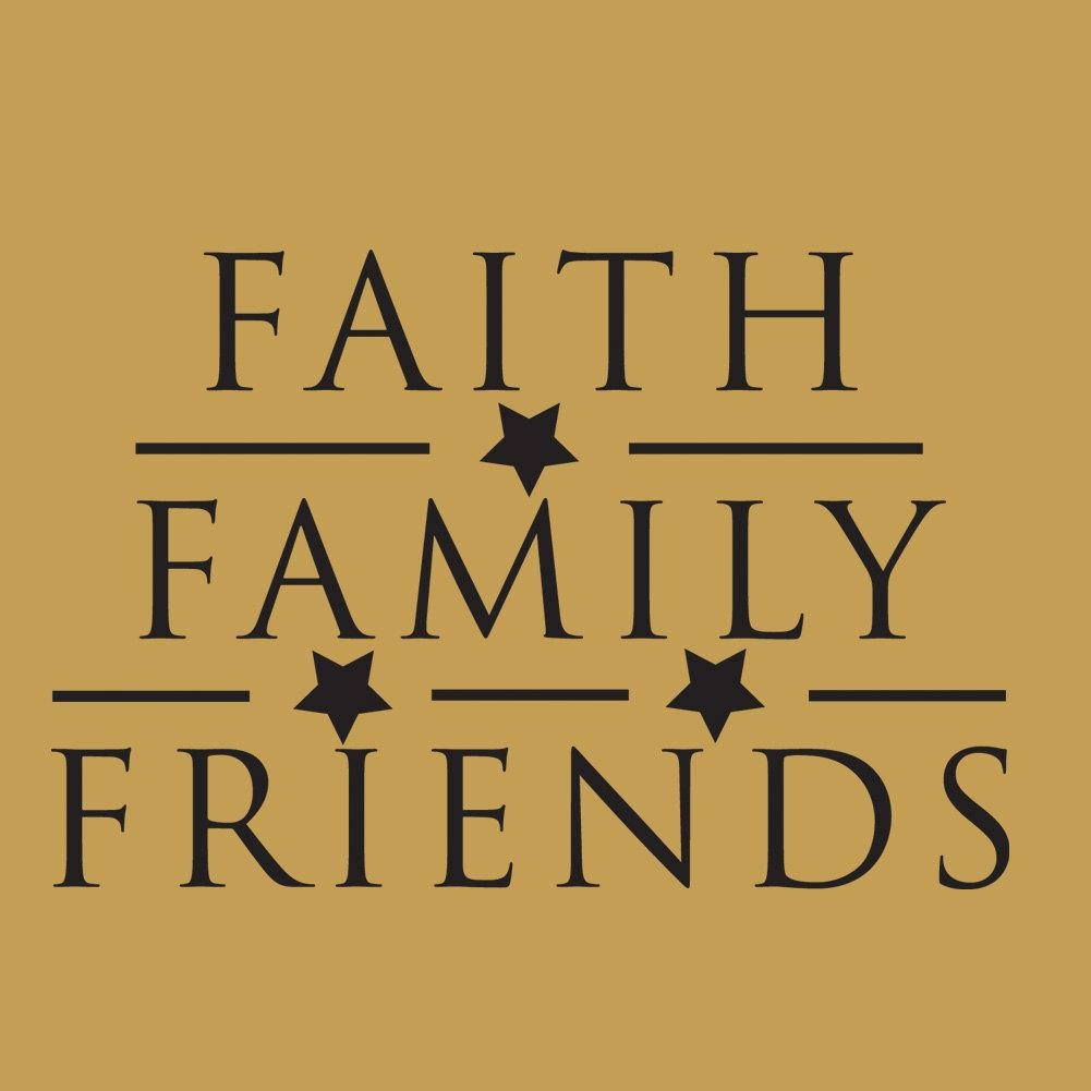 Wall Decals Faith Family Friends ~ Color The Walls Of Your House With Faith Family Friends Wall Art (Image 12 of 20)