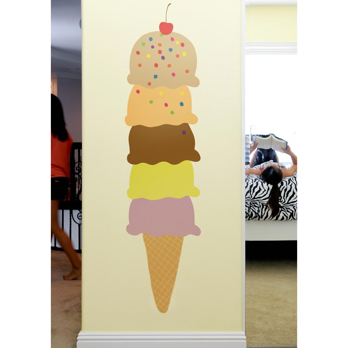 Wall Decals: Superb Ice Cream Wall Decals (View 10 of 20)