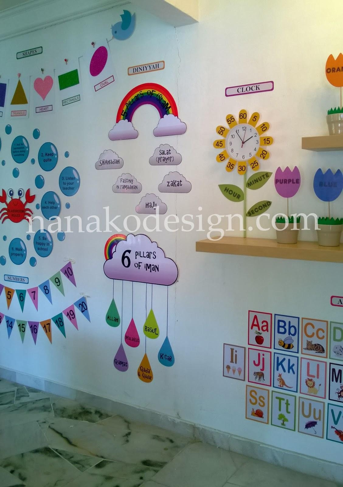 Decoration kindergarten for Preschool wall art ideas