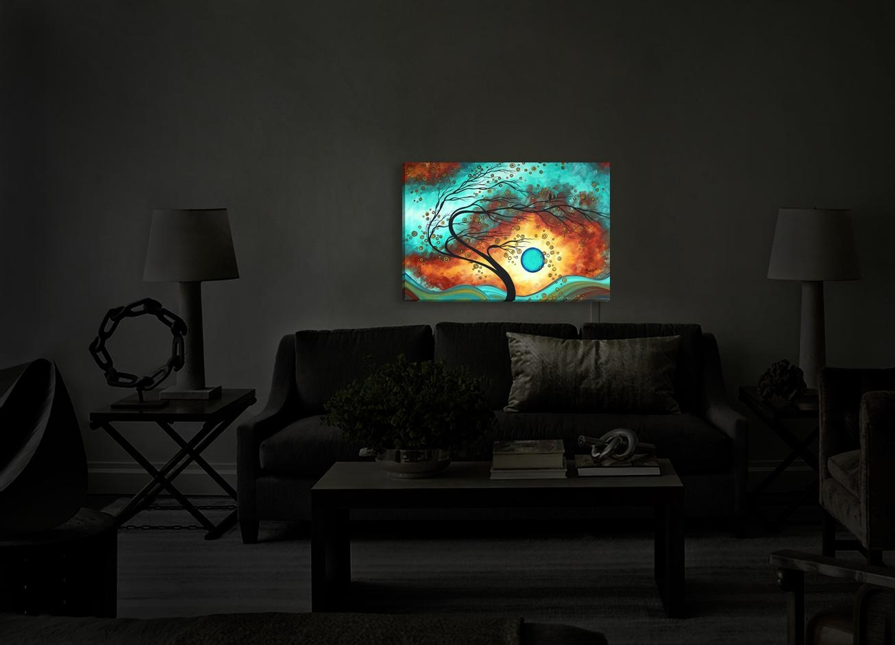 Wall Decor: Illuminated Wall Art Photo (Image 13 of 20)