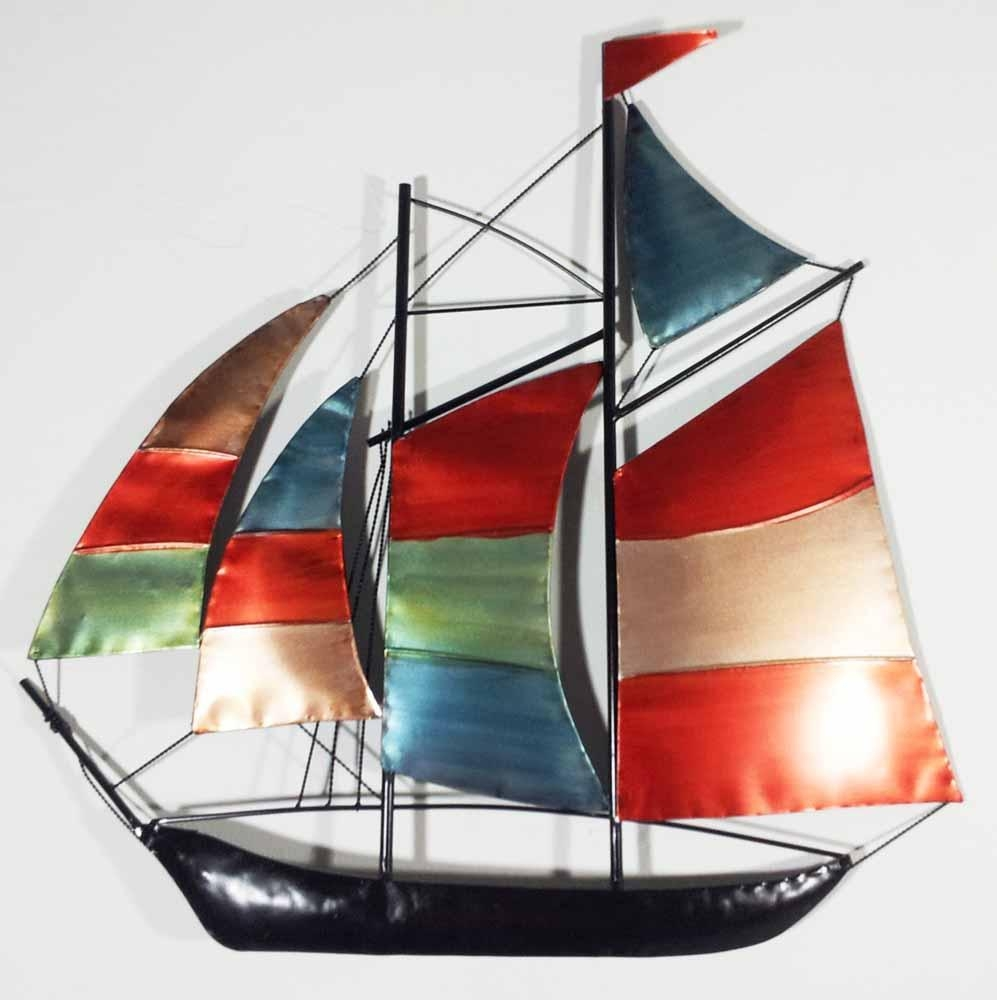 Wall Decor: Metal Sailboat Wall Art Design (Image 11 of 20)