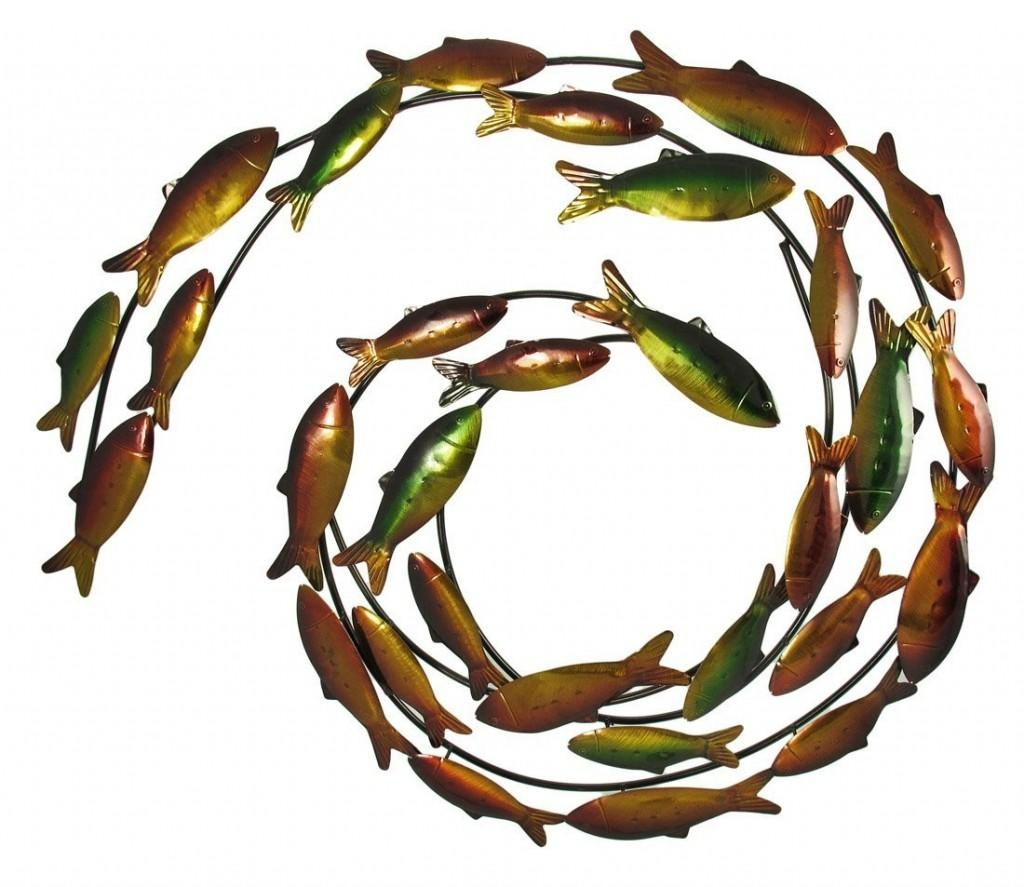 Featured Photo of Metal School Of Fish Wall Art