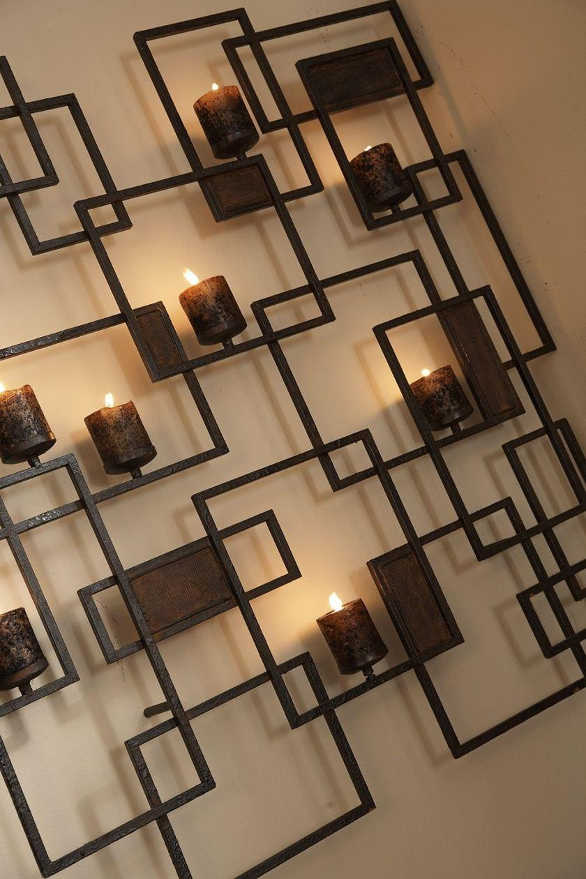Wall Decor: Metal Wall Candle Holder Images (Image 7 of 20)