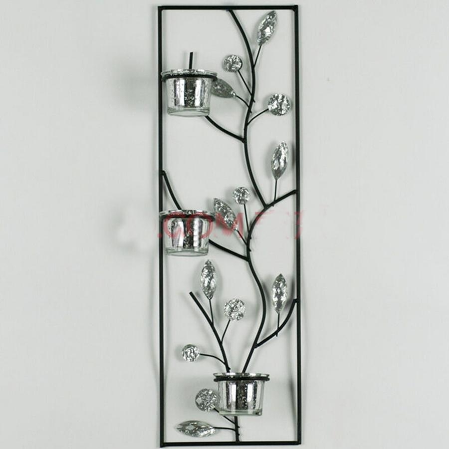 Wall Decor: Metal Wall Candle Holder Images (Image 8 of 20)