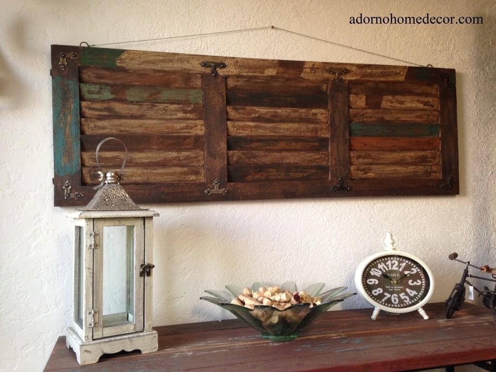 Wall Decor: Metal Wood Wall Decor Photo (Image 19 of 20)