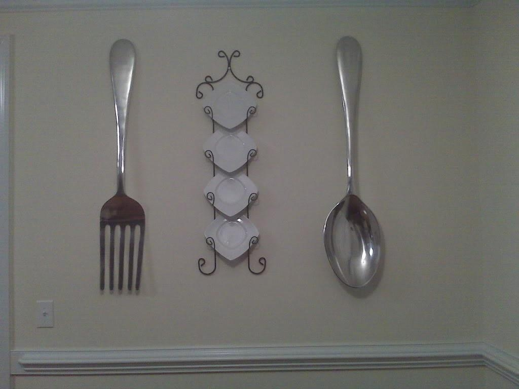 Wall Decor: Stunning Ideas With Oversized Spoon And Fork Wall Throughout Wooden Fork And Spoon Wall Art (Image 17 of 20)