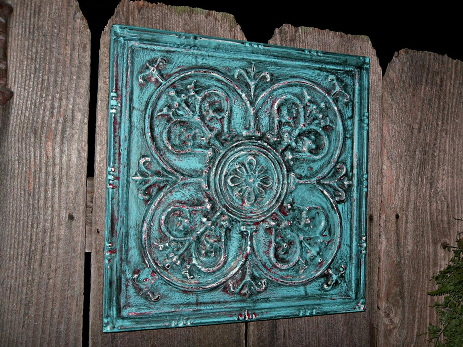 Wall Decor Turquoise – Courtyard Garden And Pool Designs Within Brown And Turquoise Wall Art (Image 16 of 20)