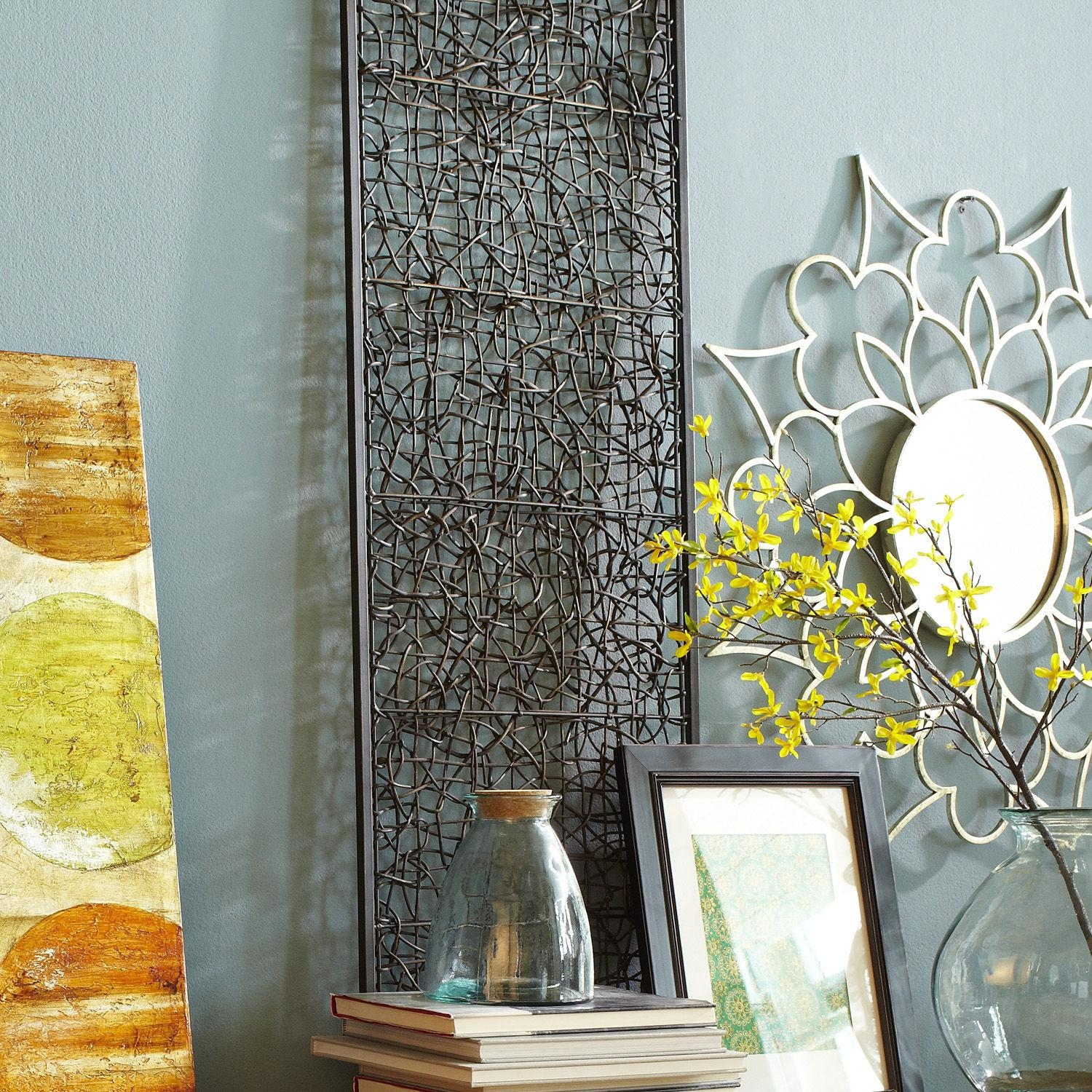 Wall Decor: Wicker Wall Decor Images. Trendy Wall (Image 14 of 20)