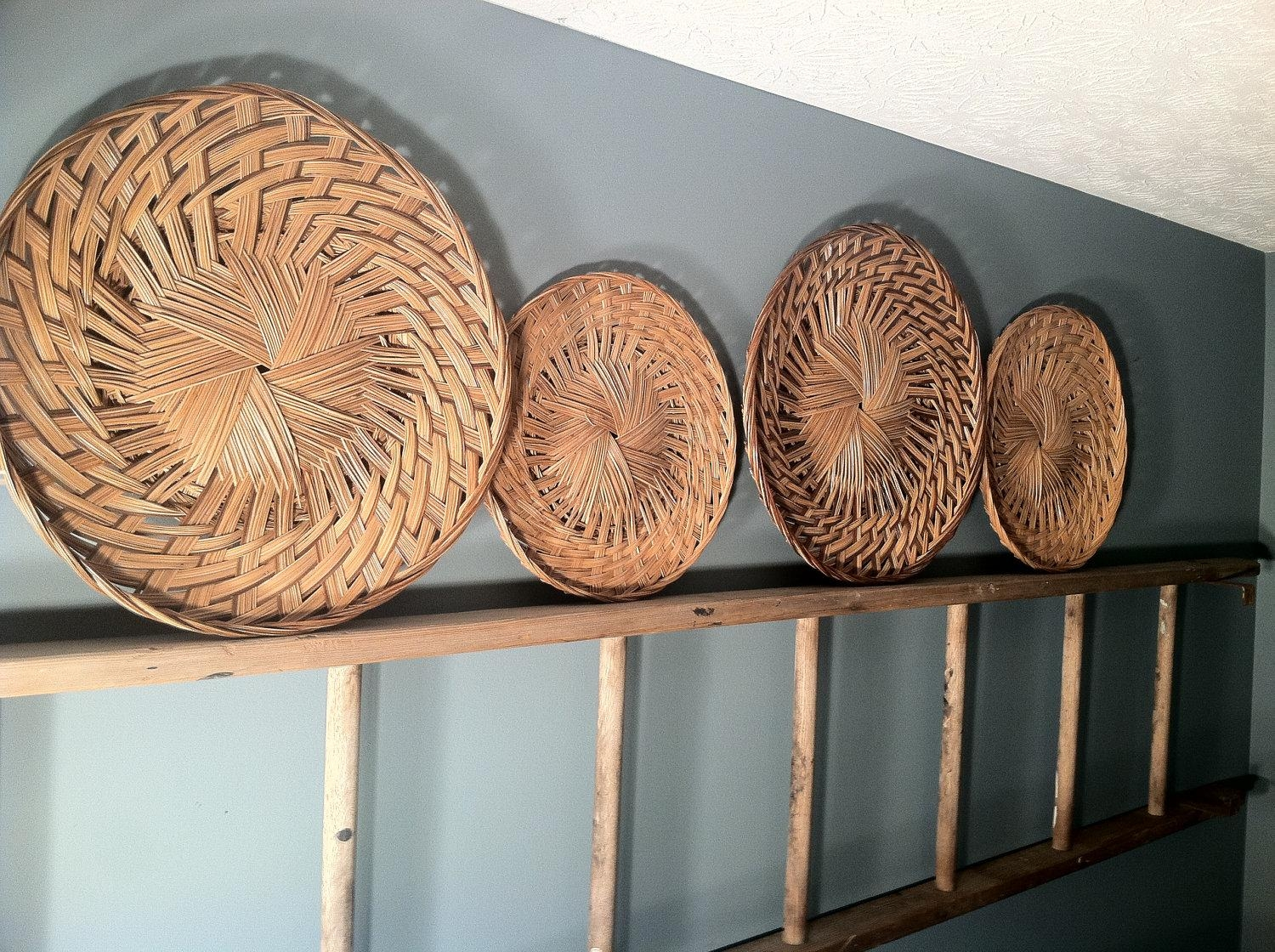 Wall Decor: Wicker Wall Decor Images. Trendy Wall (Image 15 of 20)