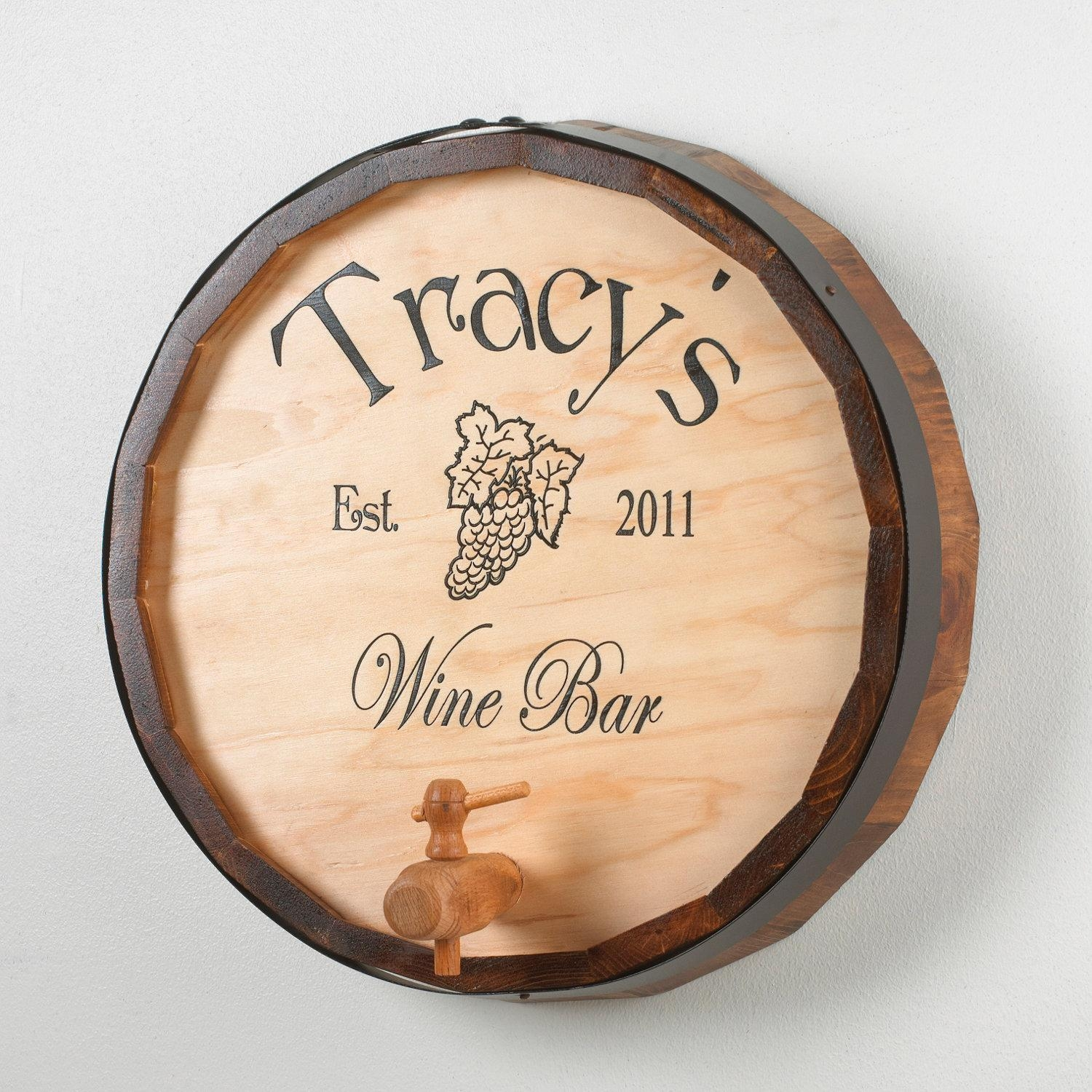 Wall Decoration. Wine Barrel Top Wall Decor – Lovely Home Intended For Wine Barrel Wall Art (Photo 14 of 20)