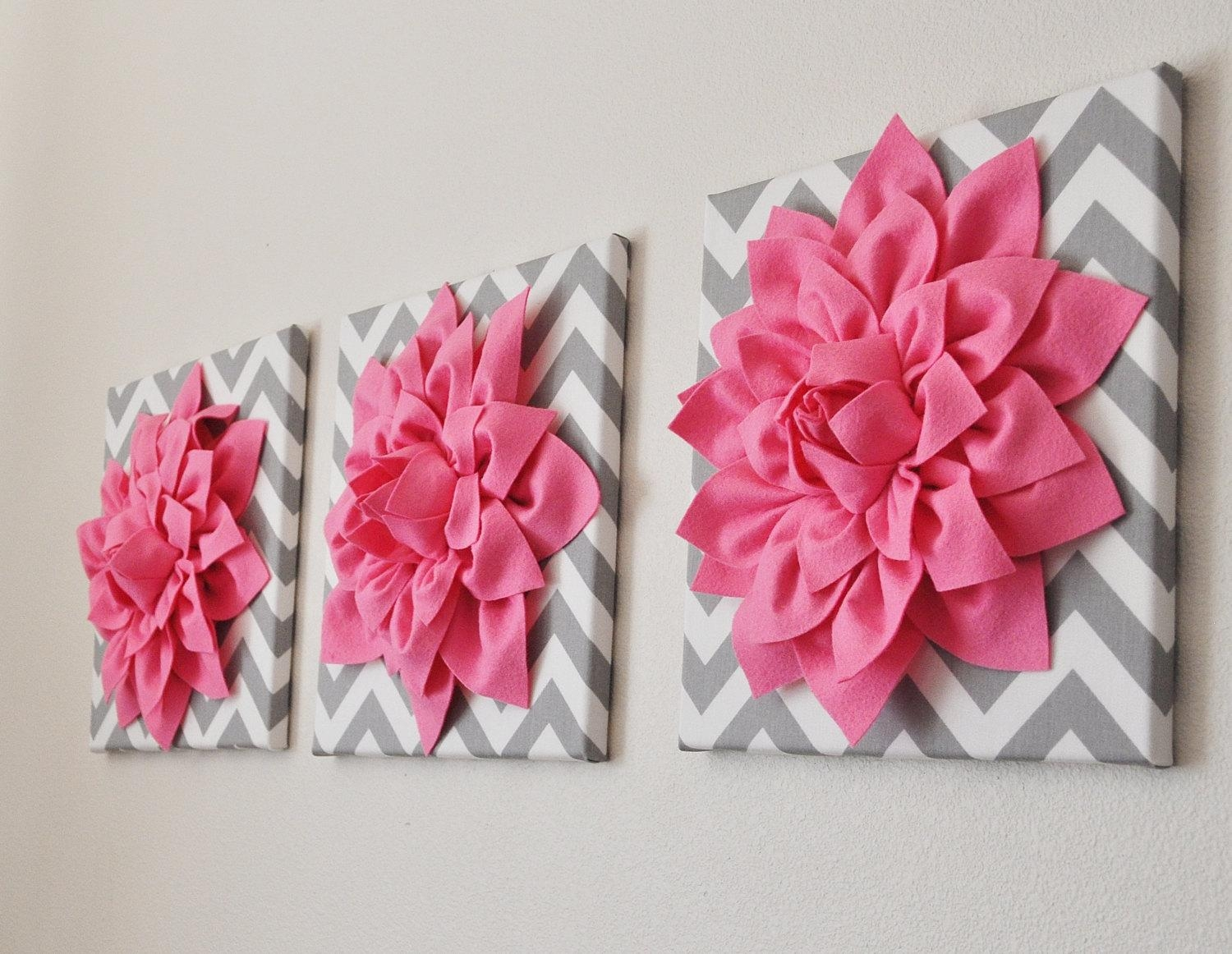Wall Design: Pink Wall Art Inspirations (Image 18 of 20)