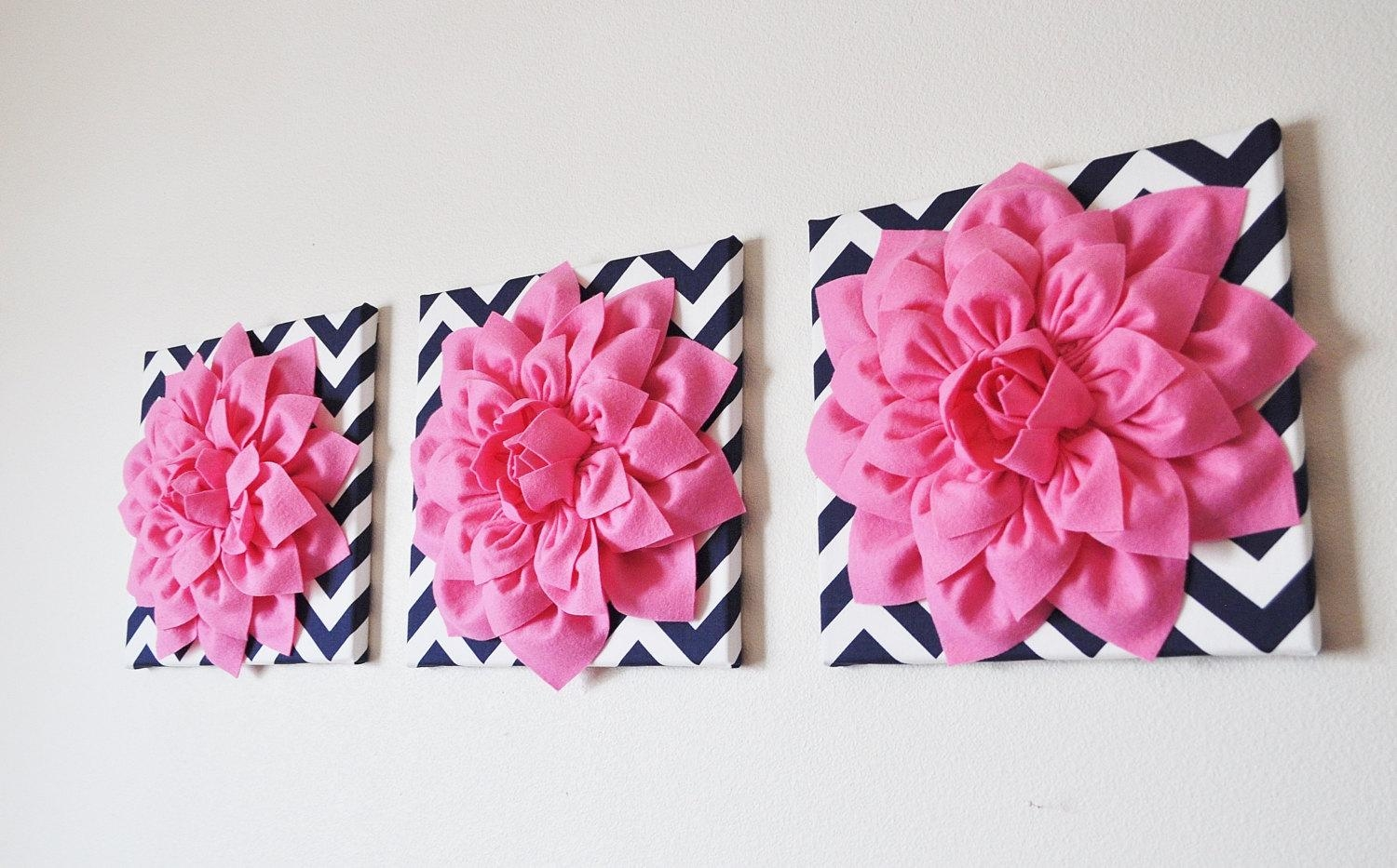 Wall Design: Pink Wall Art Inspirations (Image 19 of 20)