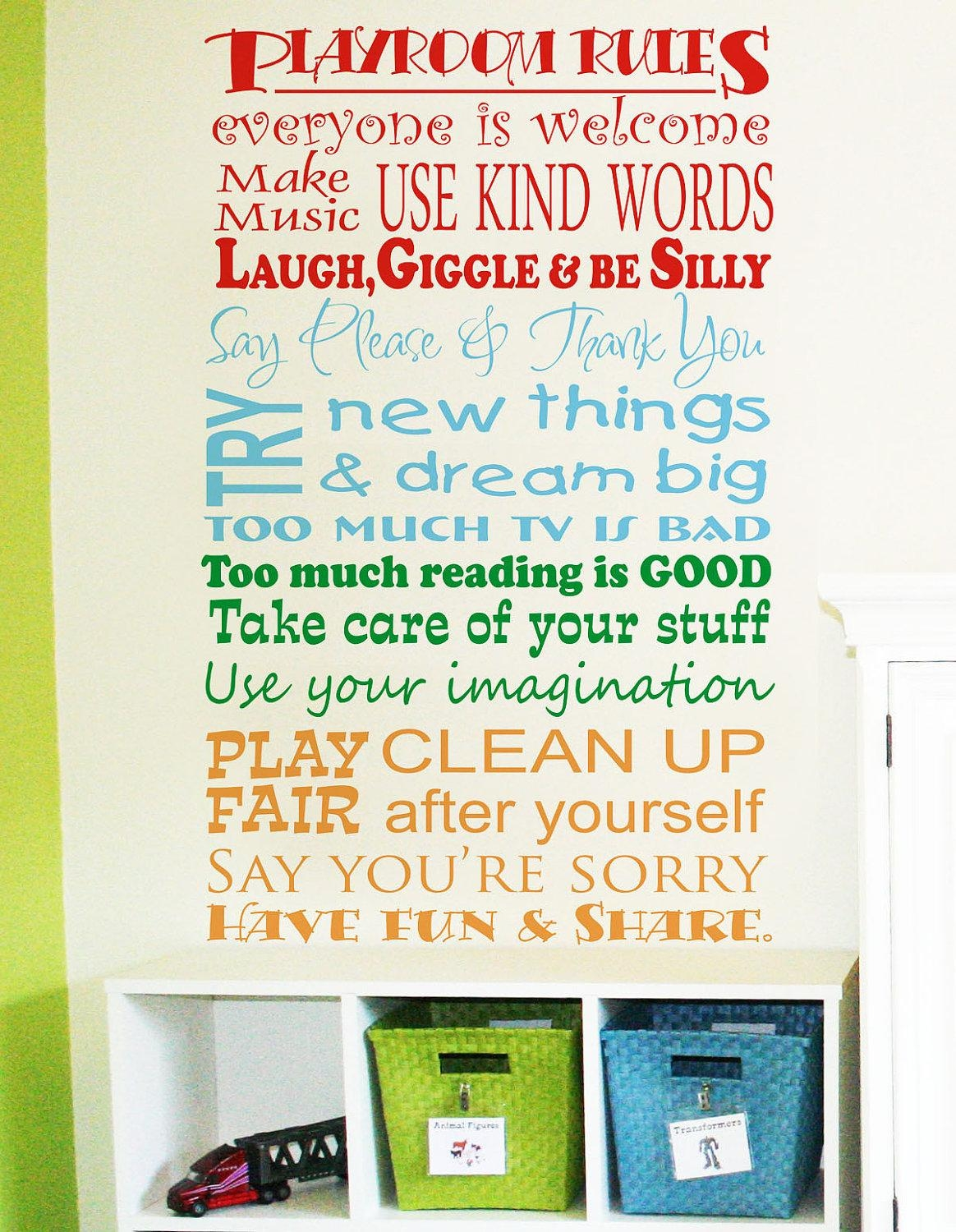 Wall Design: Playroom Wall Art Design. Playroom Wall Art Uk (Image 16 of 20)