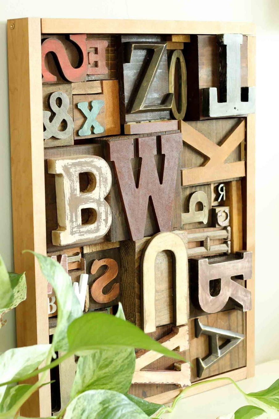 Wall Design: Wall Art Letters Pictures (Image 8 of 20)