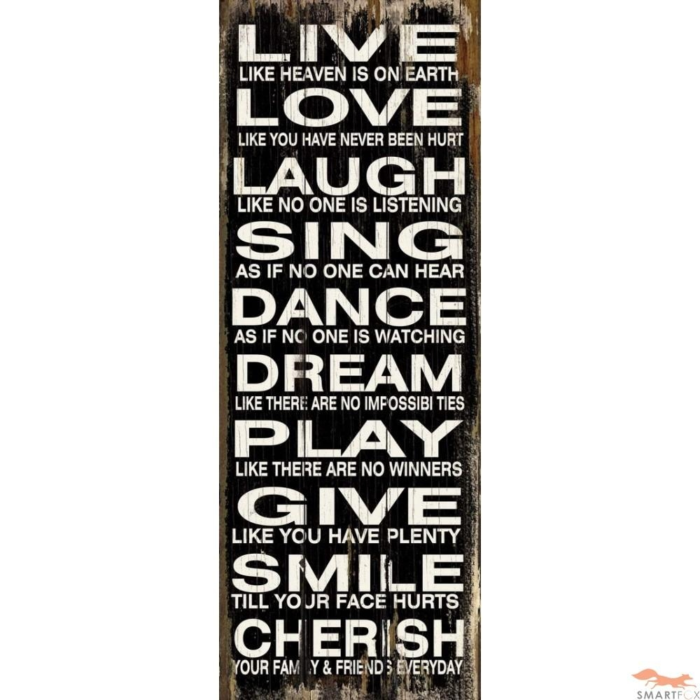 Wall Design: Word Wall Art Inspirations. Inspirational Quotes Wall Inside Wooden Word Art For Walls (Photo 5 of 20)