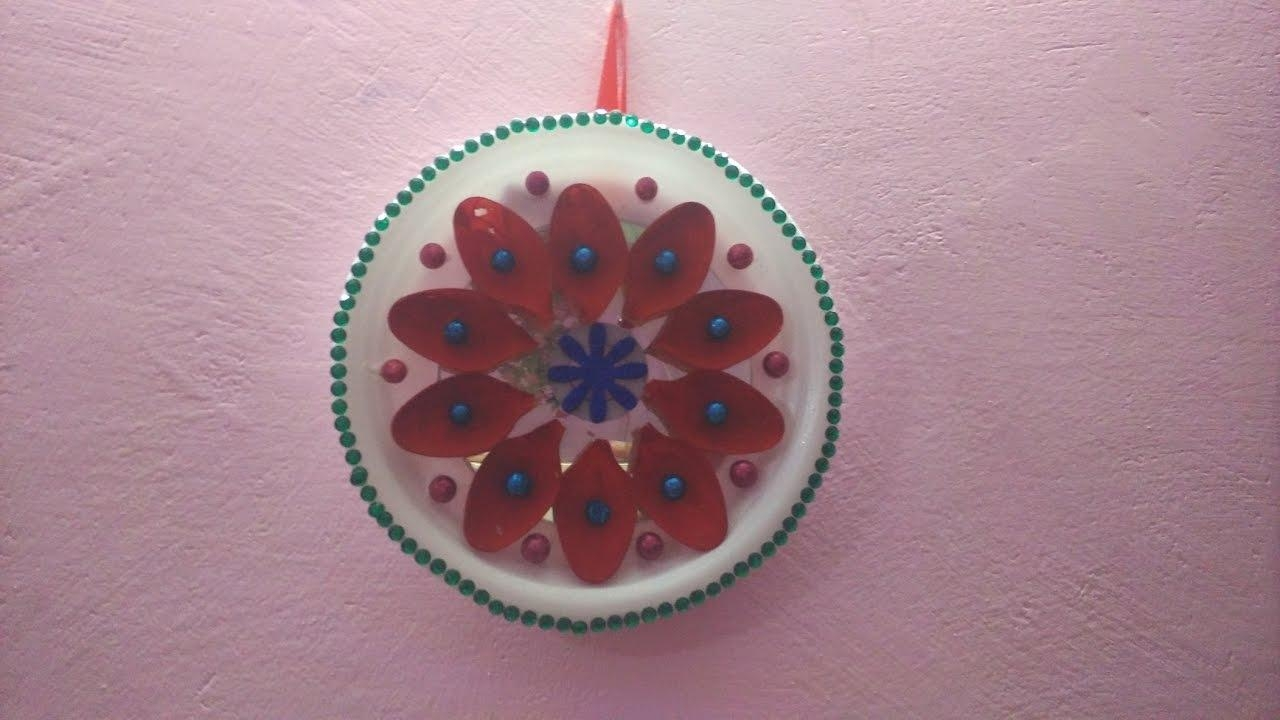 Wall Hanging With Plastic Spoon, || Diy || Art With Neha || – Youtube Regarding Plastic Spoon Wall Art (View 15 of 20)
