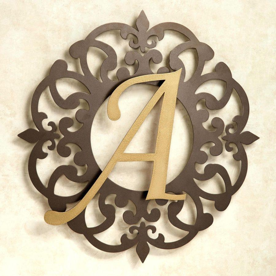 Wall Ideas : 30 In Metal Monogram Letters Wall Art Monogram Metal Regarding Monogram Metal Wall Art (Image 14 of 20)